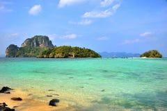 Sur l'île en Thaïlande Images libres de droits