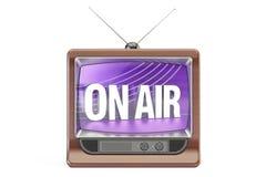 Sur l'air, concept de télévision rendu 3d Photographie stock