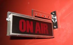 Sur l'air signez dedans la TV et l'émission de radio Photo libre de droits