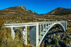 Sur l ` Artuby de Pont Photos libres de droits