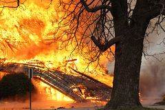 Sur l'enfer de flambage d'incendie image libre de droits