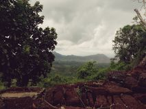 Sur l'exposition de montagne Images stock
