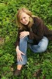Sur l'herbe verte Images libres de droits