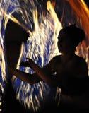 Sur l'incendie Photographie stock libre de droits