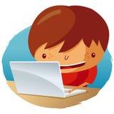 Sur l'ordinateur portatif Illustration Libre de Droits