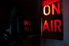 Sur la caméra de télévision d'air Photo libre de droits