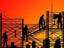 Sur la construction images stock