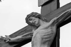 Sur la croix Image libre de droits