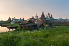 Sur la grande île de Solovki images libres de droits