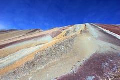 Sur la hausse à la montagne Pérou d'arc-en-ciel Photo stock