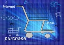 Sur la ligne achats Image stock