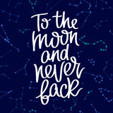 Sur la lune et jamais arrière illustration de vecteur