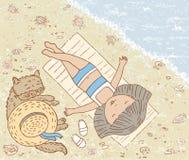 Sur la mer Image libre de droits