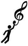 Sur la musique Photographie stock libre de droits