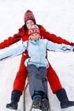 Sur la neige Image stock