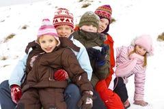 Sur la neige Images libres de droits