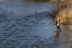 Sur la pêche Photos stock