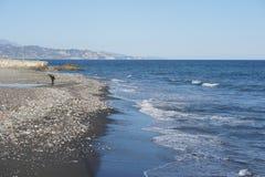 Sur la plage à Torrox Espagne Photographie stock libre de droits
