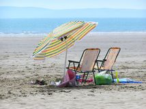 Sur la plage Image libre de droits