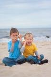 Sur la plage Images libres de droits
