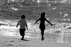 Sur la plage Images stock