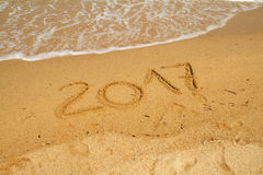 2017 sur la plage Image stock