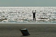 Sur la plage chez Ording Photographie stock