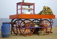 Sur la plage dans Pondicherry Photographie stock