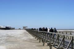 Sur la plage de St Peter-Ording en Allemagne photographie stock