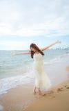 Sur la plage de Th Photo libre de droits