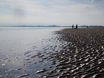 Sur la plage, le Pays de Galles Photo libre de droits