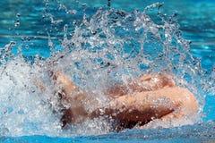 Sur la plongée de l'eau Photographie stock libre de droits