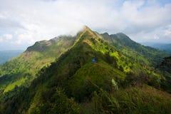 Sur la première montagne Photos libres de droits
