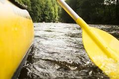 Sur la rivière Vltava Photo libre de droits