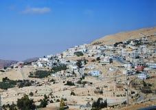 Sur la route à PETRA, la Jordanie. Image libre de droits