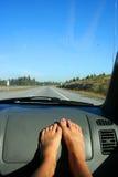 Sur la route Photos stock