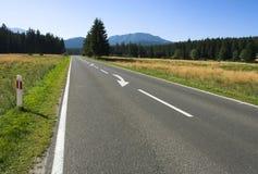 Sur la route Image libre de droits