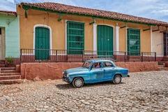 Sur la route au Trinidad, le Cuba Image libre de droits