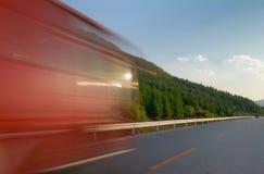 Sur la route de course Photographie stock libre de droits