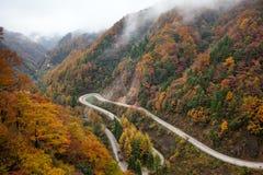 Sur la route de montagne Image libre de droits