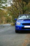 Sur la route - Subaru Impreza Images stock