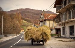 Sur la route vers Sarajevo Bosnie photos stock