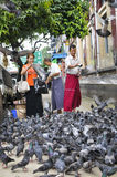 Sur la rue à Yangon, Myanmar Image stock