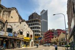 Sur la rue dans Chinatown Kuala Lumpur Image stock