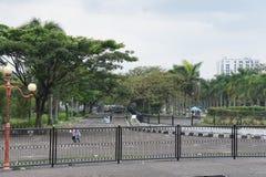 Sur la rue de Bandung dans Java occidental Photo libre de droits