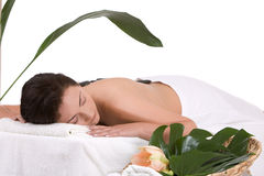 Sur la table de massage Photographie stock libre de droits