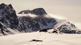 Sur la traînée de cercle arctique au Groenland photo stock