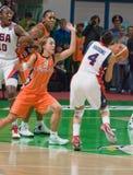 Sur le basket-ball des Etats-Unis d'équipe de piste de danse Images stock