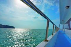 Sur le bateau Photographie stock