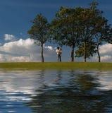 Sur le côté d'eau Photos libres de droits
